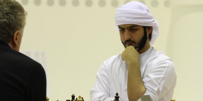 UAE's GM Salem A.R. Saleh maintains slim lead entering the final round of the 12th Allegiance to Zayed Chess Tournament