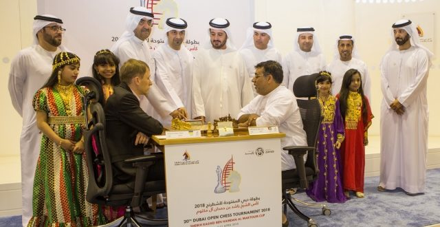 Top seed GM Yuriy Kryvoruchko of Ukraine beat FM Othman Mousa of the UAE as favorites hurdled their opening round assignments in the 20th Dubai Open Chess Championship at the Dubai Chess Club in Dubai.