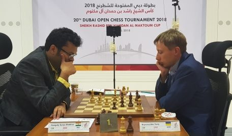 Indian GM Ganguly Beats Top Seed, Widens Lead in Dubai Open Chess