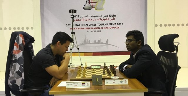 Indian GM Ganguly Grabs Solo Lead in Dubai Open Chess